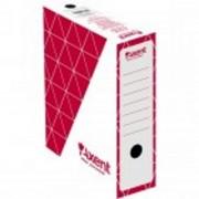Box arhivare Axent A4 100 mm carton rosu