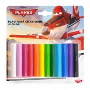 Plastilina 12 culori 180g DACO Planes