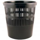 Urna pentru hirtie din plastic Delta neagra
