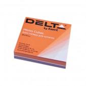 Hirtie notite Delta Color 80x80x20 mm incleiate