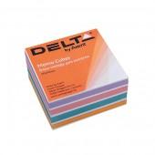 Hirtie notite Delta Color 90x90x30 mm neincleiate
