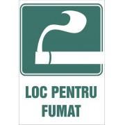 """Etichete autoadezive20X20 cm """"Loc pentru Fumat"""""""