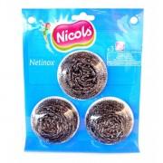 Răzuitor din metal Nicols Netinox, 3 buc/set
