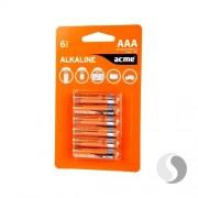Batteries Acme AAA Alkaline, 6 buc. în blister
