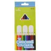 Creioane colorate 12 culori Ecada