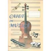 Caiet de muzica 8 file  A4
