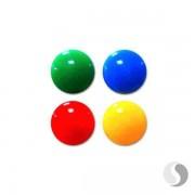 """Complect de magneti rotunzi """"Smile"""", d=50mm, 3 buc./colorate, p/u tabla"""