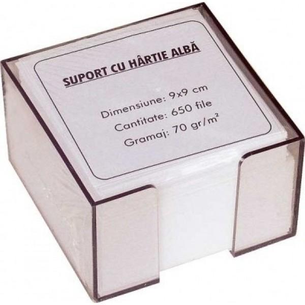 Hirtie pentru notite Rezerva cub hirtie alba 9x9x3 cm