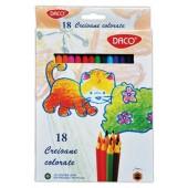 Creioane colorate Daco, 18 culori