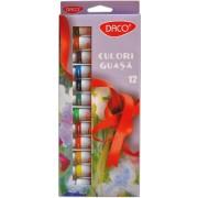 Set de 12 culori guaşă Daco