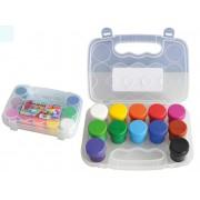 Set de 12 culori guasa Brilia Daco, in caseta de plastic