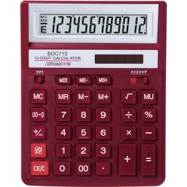 "Calculator Rebell 12 cifre, model ""888"", 155X205mm, rosu"